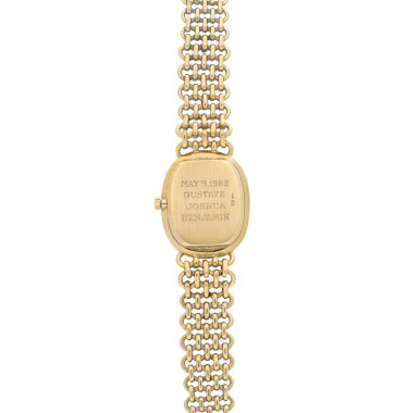 REFERENCE 4226 ELLIPSE A YELLOW GOLD OVAL BRACELET WATCH, MADE IN 1979