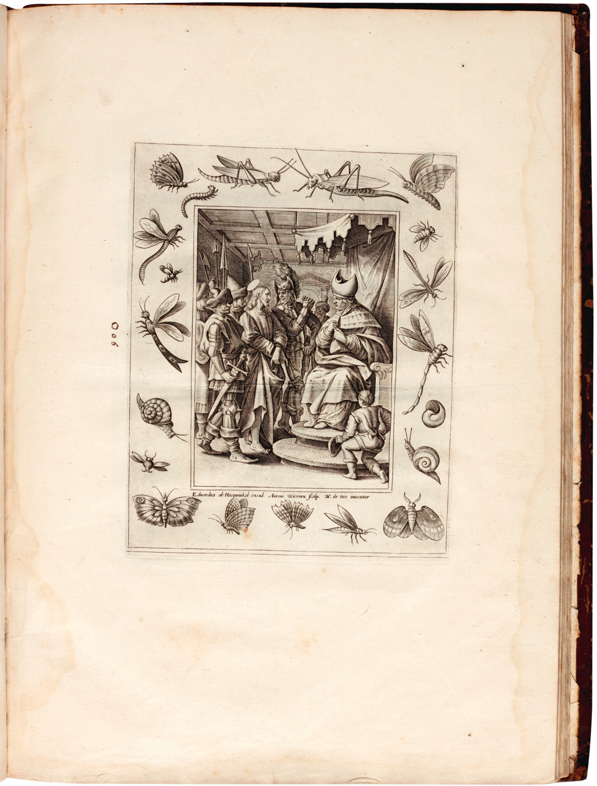 View full screen - View 1 of Lot 114. Galle, Septem opera misericordiae spiritualia, Antwerp, 1577, later English calf.