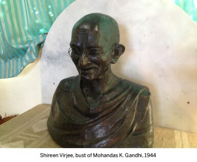 View 4. Thumbnail of Lot 77. GANDHI | autograph letter signed, in Gujarati, to Shireen Virji, 17 July 1944.