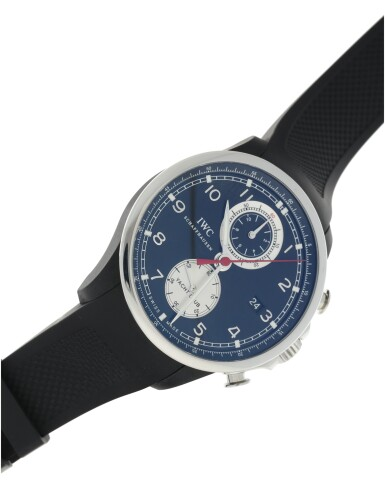 View 5. Thumbnail of Lot 89. IWC   REFERENCE IW3902-08 PORTUGIESER YACHT CLUB CHRONOGRAPH BOUTIQUE EDITION  A LIMITED EDITION STAINLESS STEEL AND RUBBER AUTOMATIC FLYBACK CHRONOGRAPH WRISTWATCH WITH DATE, ONE OF 250, CIRCA 2014.