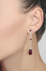 PAIR OF RUBY AND DIAMOND EARRINGS, MICHELE DELLA VALLE