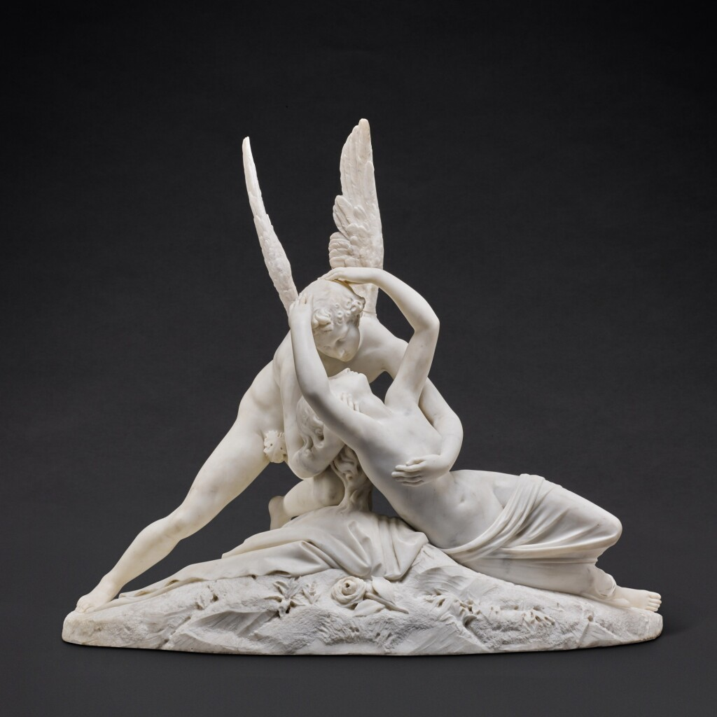 AFTER ANTONIO CANOVA (1757-1822) | PSYCHE REVIVED BY CUPID'S KISS