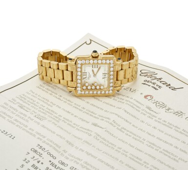 LADY'S 'HAPPY SPORT' DIAMOND AND SAPPHIRE WRISTWATCH  (OROLOGIO DA POLSO 'HAPPY SPORT' IN DIAMANTI E ZAFFIRI), CHOPARD