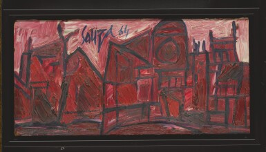 View 2. Thumbnail of Lot 1826. FRANCIS NEWTON SOUZA | RED BUILDINGS IN LONDON.
