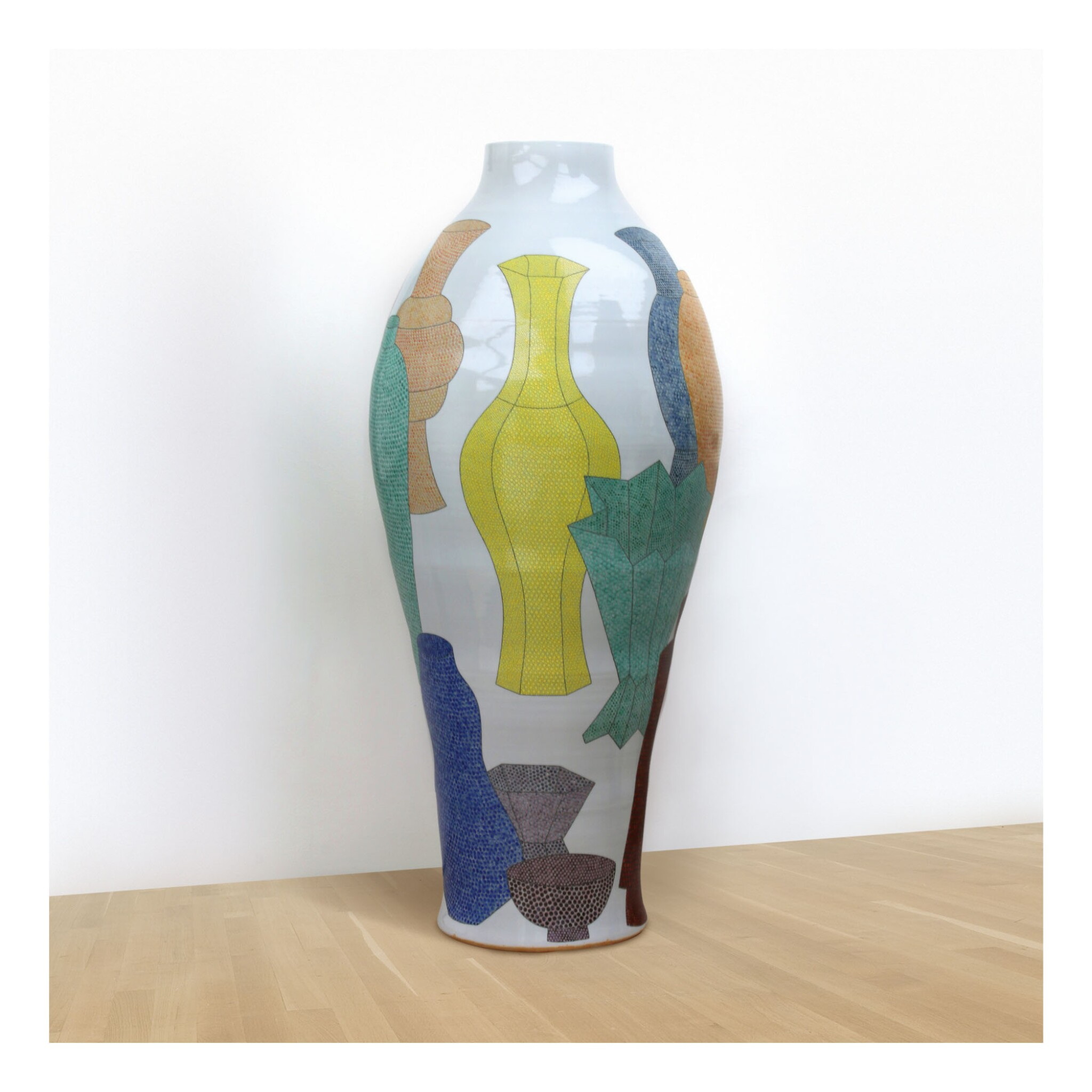 View full screen - View 1 of Lot 500. A MASSIVE FELICITY AYLIEFF VASE: POTS ON POTS II CIRCA 2014 .
