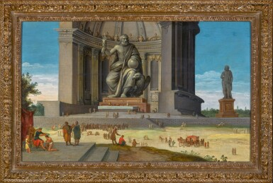 View 2. Thumbnail of Lot 289. JACOB VAN DER ULFT | THE PHIDIAN STATUE OF ZEUS AT OLYMPIA, WITH OLYMPIC GAMES TAKING PLACE AT ITS FEET.