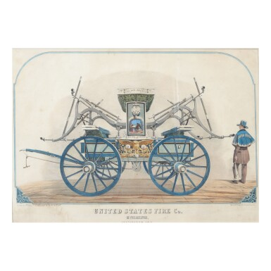 COLOR LITHOGRAPH OF THE UNITED STATES FIRE COMPANY OF PHILADELPHIA, G.G. HEISS, LATE 19TH CENTURY