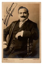 CARUSO | postcard photograph signed, by Vandyk of London, c.1904-1906
