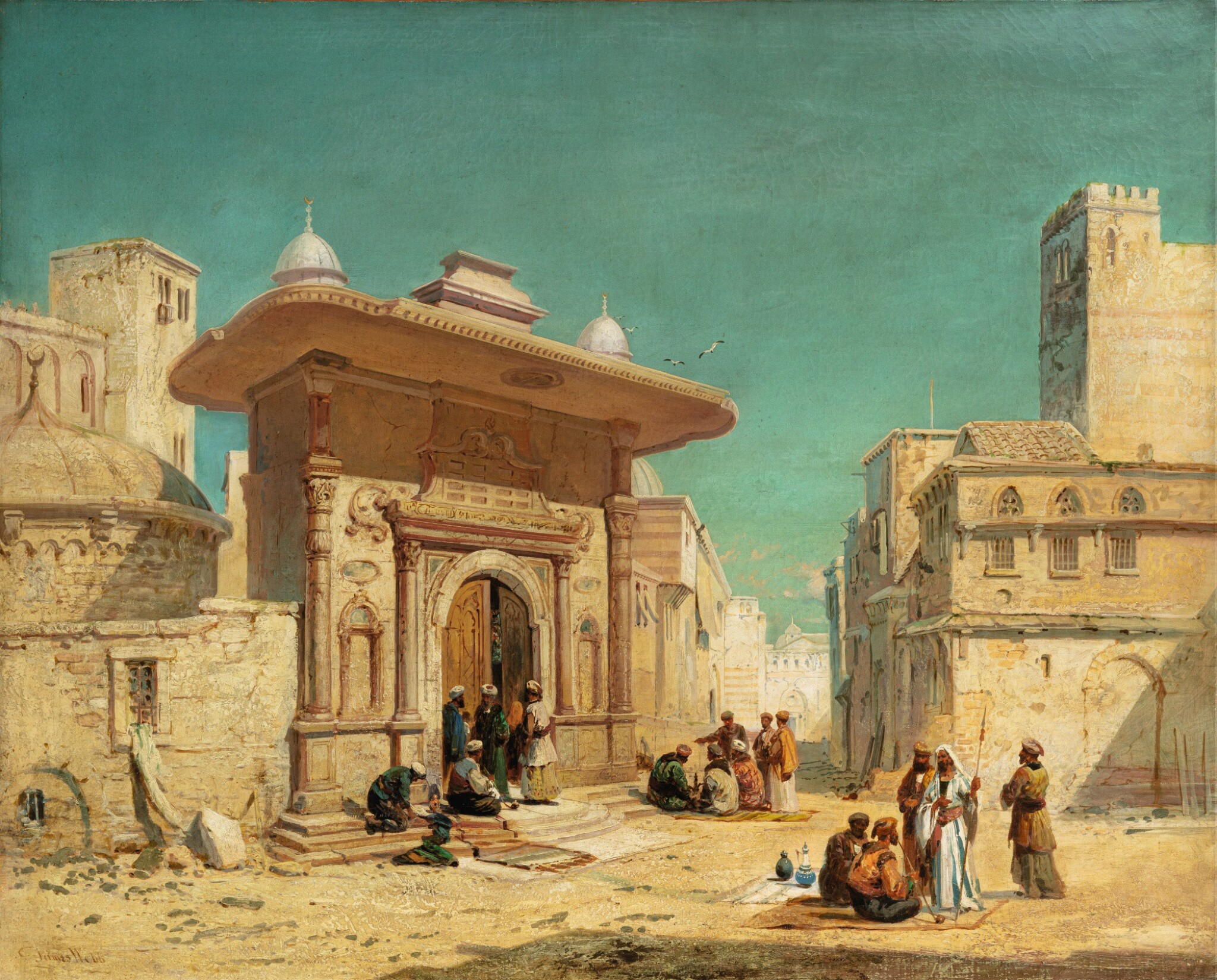 View full screen - View 1 of Lot 14. JAMES WEBB   THE ST. SOPHIA GATE, CONSTANTINOPLE.