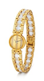 PIAGET | POLO, REFERENCE 8240, A YELLOW GOLD, DIAMOND-SET AND ROCK CRYSTAL BRACELET WATCH, CIRCA 1990
