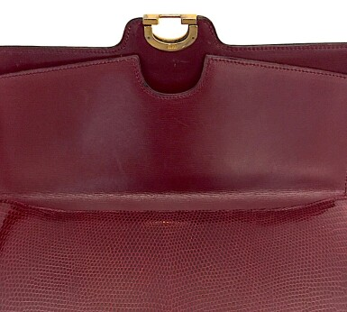 View 17. Thumbnail of Lot 725. GUCCI   BURGUNDY VINTAGE BAG IN LIZARD, c.1960s.