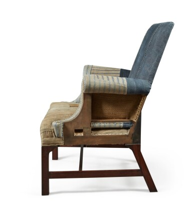 View 4. Thumbnail of Lot 13. A UNIQUE REYNOLDS MAHOGANY AND STAINED BEECH ARMCHAIR MADE BY HOWE, MODERN.