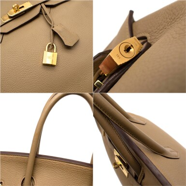 View 5. Thumbnail of Lot 31. HERMÈS | CARDAMOME BIRKIN 35 IN TAURILLION CLEMENCE LEATHER WITH GOLD HARDWARE, 2008.