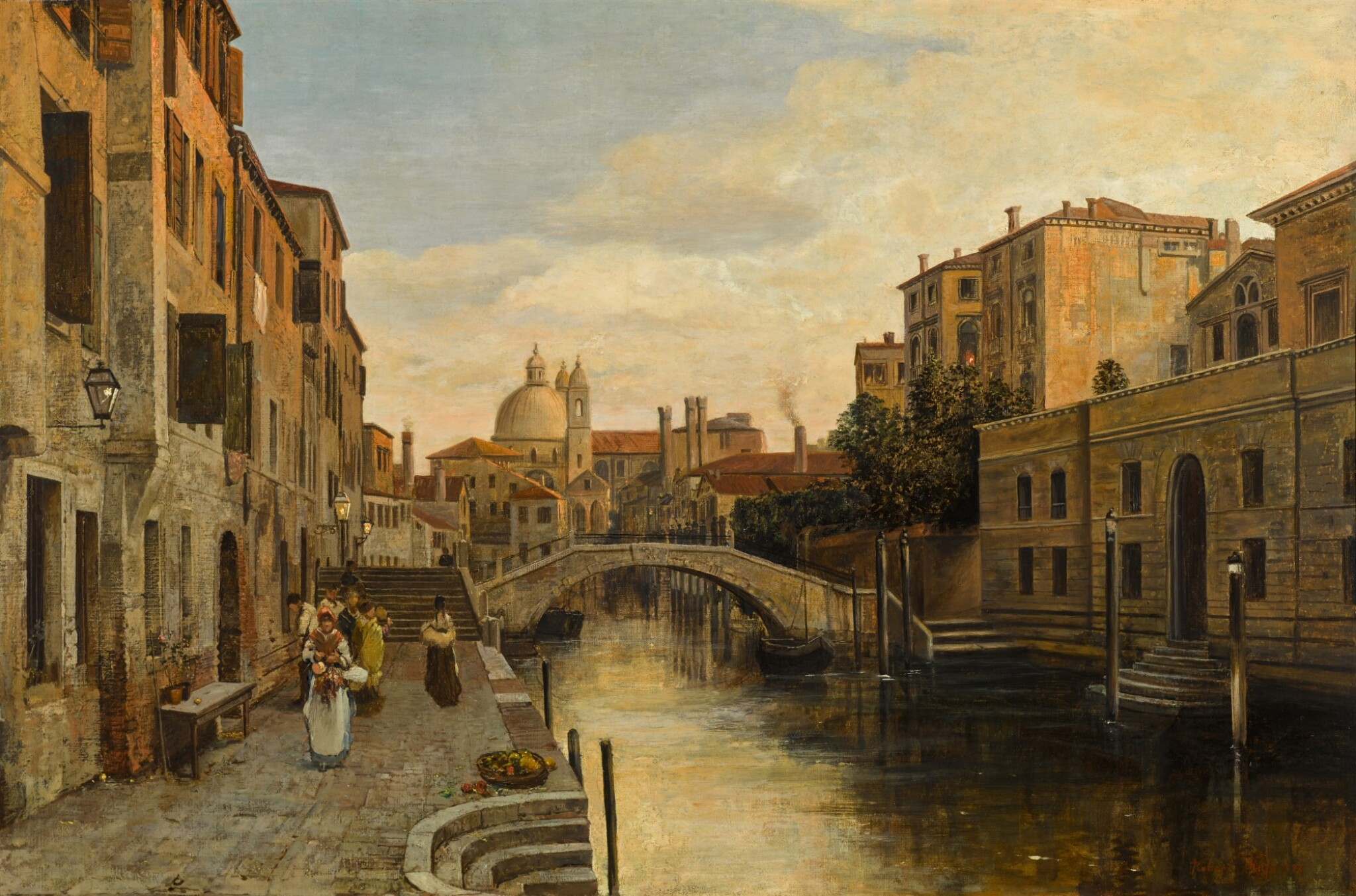 View 1 of Lot 74. Rio del Ognissanti, Venice.