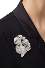 DIAMOND DOUBLE CLIP-BROOCH