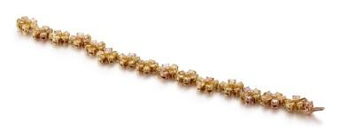 View 2. Thumbnail of Lot 1007. COLOURED DIAMOND BRACELET   彩色鑽石手鏈.