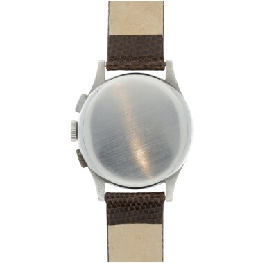 View 5. Thumbnail of Lot 97.  LECOULTRE   REFERENCE 7090  RETAILED BY CARTIER: A STAINLESS STEEL CHRONOGRAPH WRISTWATCH, CIRCA 1945.
