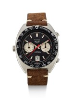 HEUER   AUTAVIA, REFERENCE 1163V, A STAINLESS STEEL CHRONOGRAPH WRISTWATCH WITH DATE, CIRCA 1960