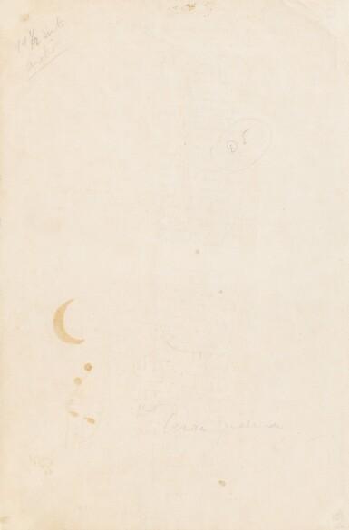 View 2. Thumbnail of Lot 150. Romance de la luna luna. 1934. Poème autographe signé, orné d'un dessin et offert à son ami Mora Guarnido.