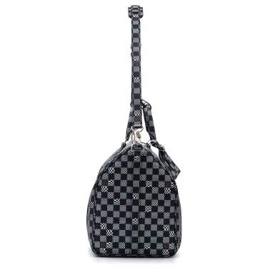 View 3. Thumbnail of Lot 337. Black Distorted Damier Keepall Bandouliere 50cm in Coated Canvas and Cowhide Leather with Palladium Tone Hardware, 2020.