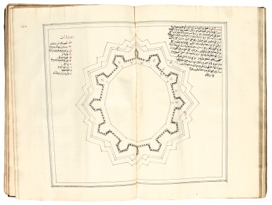 View 3. Thumbnail of Lot 353. Ottoman manuscript, A volume on the art of military architecture, Turkey, 18th century.