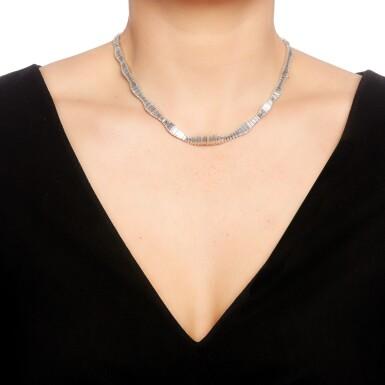 View 4. Thumbnail of Lot 50. Harry Winston   Diamond necklace.