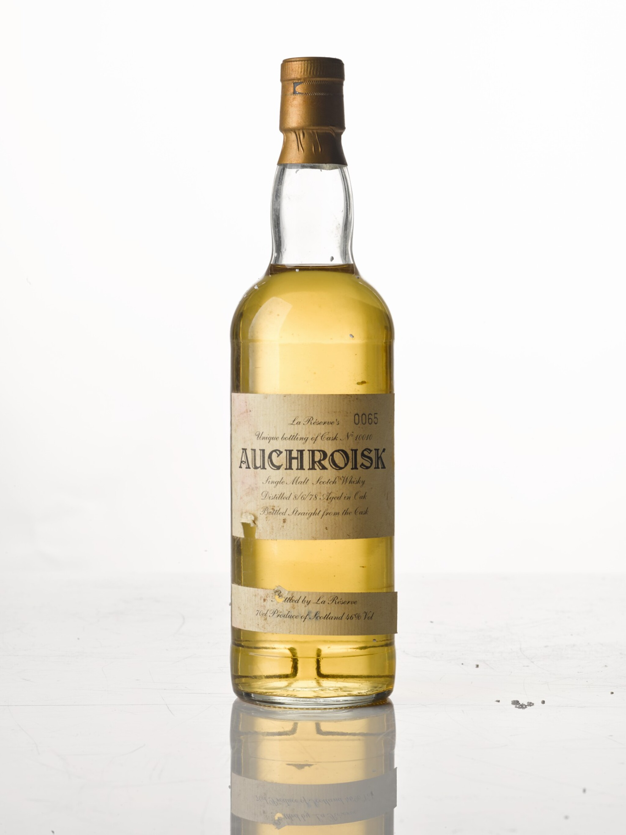 View full screen - View 1 of Lot 153. Auchroisk La Réserve 14 Year Old 46.0 abv 1978 .