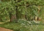 IVAN IVANOVICH SHISHKIN   A BENCH IN THE SHADE