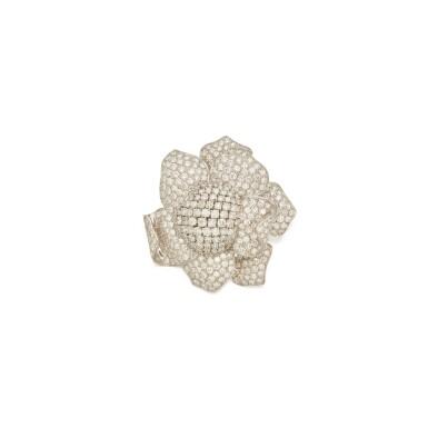 View 1. Thumbnail of Lot 406. Diamond Clip-Brooch.