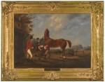IRISH SCHOOL, EARLY 19TH CENTURY   A TRAINING TOUT AND A QUICK SHOD