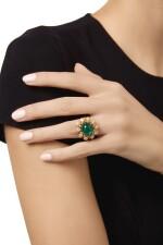 EMERALD AND DIAMOND RING, VAN CLEEF & ARPELS