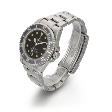 View 2. Thumbnail of Lot 372. ROLEX | 'TRIPLE SIX' SEA-DWELLER, STAINLESS STEEL WRISTWATCH WITH DATE REFERENCE 16660, CIRCA 1985.