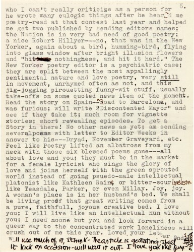 View 4. Thumbnail of Lot 7. Sylvia Plath | Typed letter signed, to Ted Hughes, on her love for him and Cambridge life, 3 October 1956.