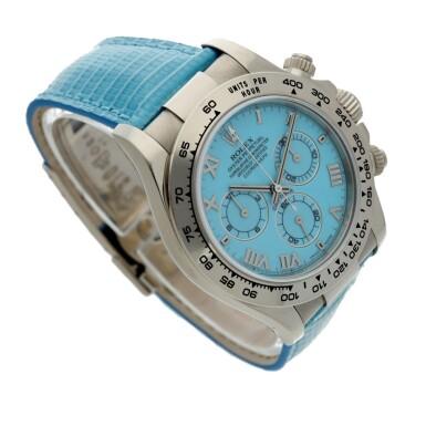 View 3. Thumbnail of Lot 4. Reference 116519 'Daytona Beach'  A white gold automatic chronograph wristwatch, Circa 2000.