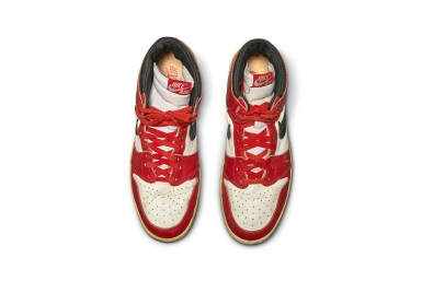 View 11. Thumbnail of Lot 1. Michael Jordan's Game Worn 1985 Player Sample Air Jordan 1s | Sizes 13, 13.5.