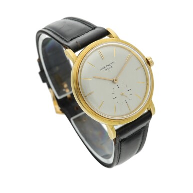 View 3. Thumbnail of Lot 239. Reference 3415  A yellow gold automatic wristwatch, Made in 1958.