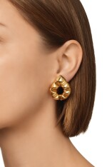 PAIR OF GOLD EARCLIPS, BULGARI