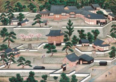 View 1. Thumbnail of Lot 116. ATTRIBUTED TO KAWAHARA KEIGA (1786–1860) STUDIO, A GROUP OF ELEVEN VIEWS STUDIO, EDO PERIOD, EARLY 19TH CENTURY  .