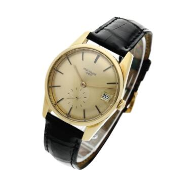 View 2. Thumbnail of Lot 251. Reference 3558  A yellow gold automatic wristwatch with date, Made in 1968.