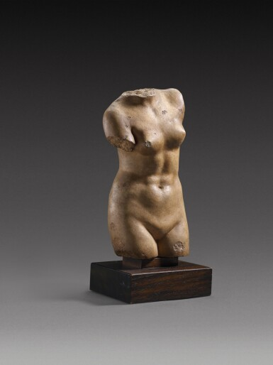 View 2. Thumbnail of Lot 30. A Hellenistic Marble Torso of Aphrodite Anadyomene, circa 2nd/1st Century A.D..