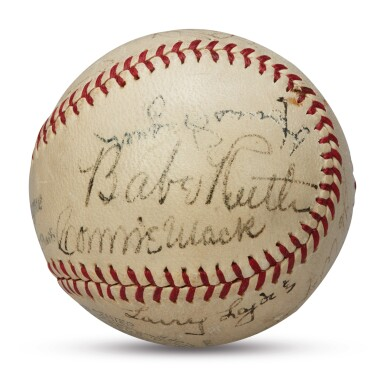 View 1. Thumbnail of Lot 127. Baseball Hall of Fame   A signed baseball worthy of the Hall of Fame.