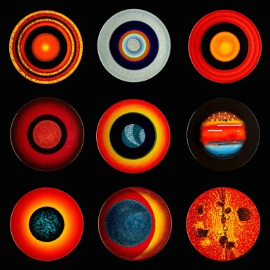 View 1. Thumbnail of Lot 4. Alan Clarke for Poole Pottery, circa 2000   The Planets.