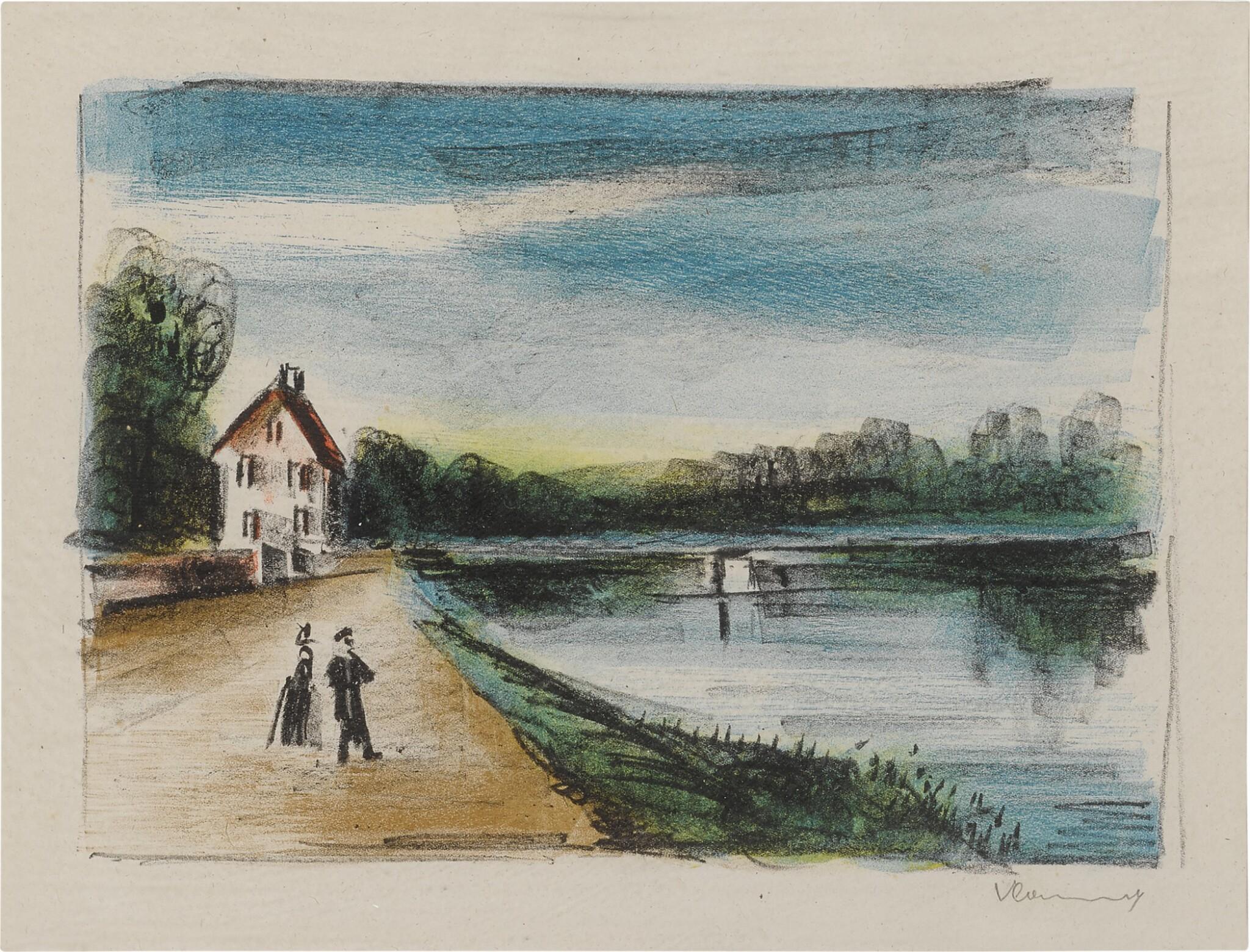 View full screen - View 1 of Lot 172. Le Pont sur L'Oise à Méry (II) (Walterskirchen 187).