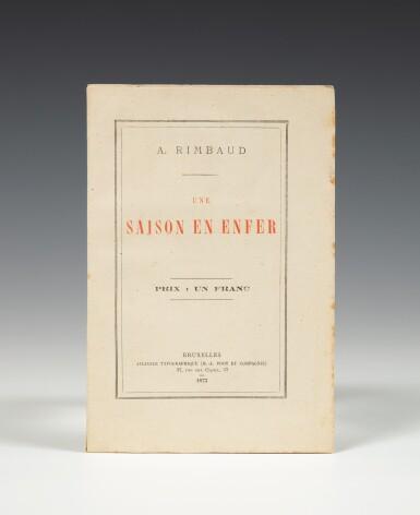 View 1. Thumbnail of Lot 94. RIMBAUD. Une saison en enfer. 1873. Broché. Rare édition originale..