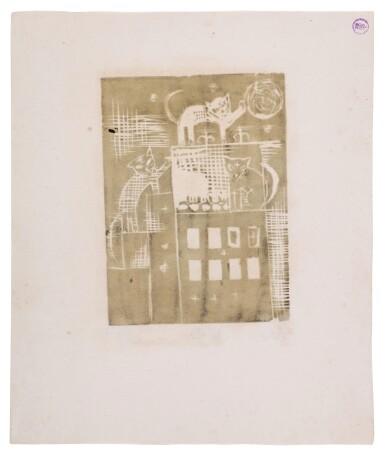 View 10. Thumbnail of Lot 60. Neun Holzschnitte (K. 23-31) (Nine woodcuts (K. 23-31)) .