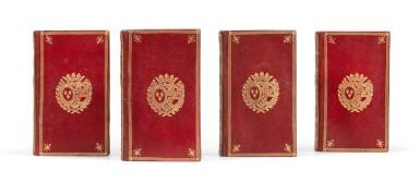 View 1. Thumbnail of Lot 95. Histoire du règne de Philippe II 1778. 4 vol. Aux armes de la comtesse de Provence.