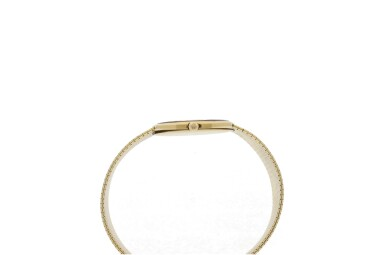 View 6. Thumbnail of Lot 56. PATEK PHILIPPE | REFERENCE 3523/1  A YELLOW GOLD SQUARE-SHAPED BRACELET WATCH, MADE IN 1965.