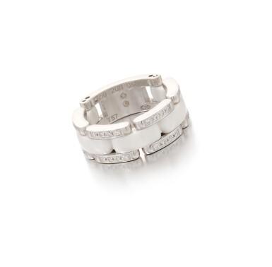 View 1. Thumbnail of Lot 207.  CHANEL   WHITE CERAMIC AND DIAMOND 'ULTRA RING'   (ANELLO IN CERAMICA BIANCA E DIAMANTI).