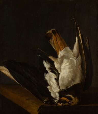 View 1. Thumbnail of Lot 45. ISAACK ADAMSZ. DE COLONIA | Still life with a Northern lapwing.