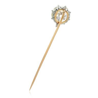 View 3. Thumbnail of Lot 11. Diamond stick pin, late 19th century.